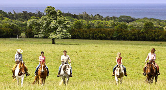 Horseback Riding at Princeville at Hanalei, Kauai